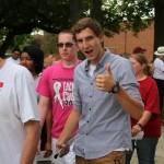 New students flood campus on Induction Day.