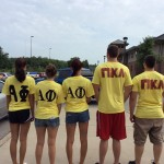 IU Southeast Greeks help out on move-in day.