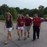 Chancellor Wallace greets families on move-in day.