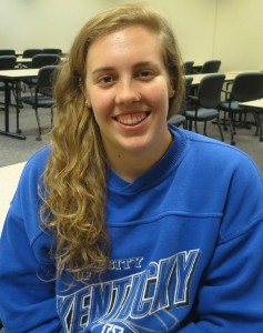 Alex Tinsley, a junior psychology and criminal justice double major, hopes to attend medical school after graduation from IU Southeast.