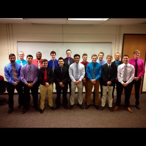 The newest members of PIKE at IU Southeast
