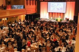 Aerial view of the 2015 Chancellors Medallion Dinner held Saturday, March 28, at Horseshoe Southern Indiana