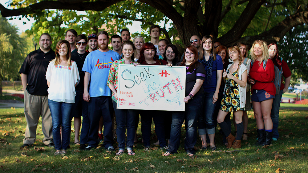 The Horizon staff in the fall of 2014.