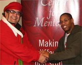 Professor of psychology Bernie Carducci and IU Southeast graduate Quentin Stubbins, '07.
