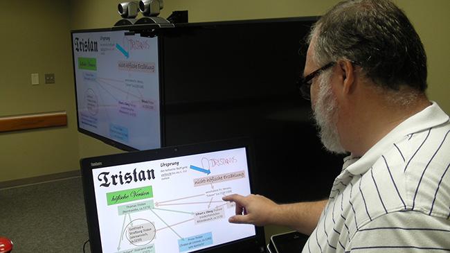Professor Hutchins uses Eagle Eye technology