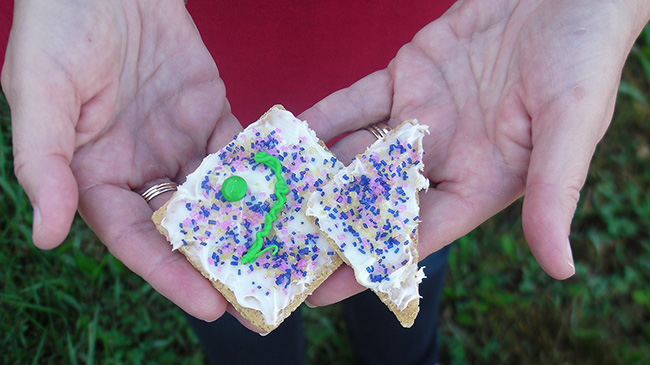 The Rainbow Fish cookie.