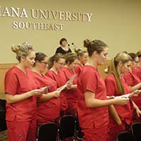 "Nursing students pledge compassionate care at ""white coat"" ceremony"