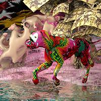 Painter Caleb Weintraub brings digital visions to Barr Gallery
