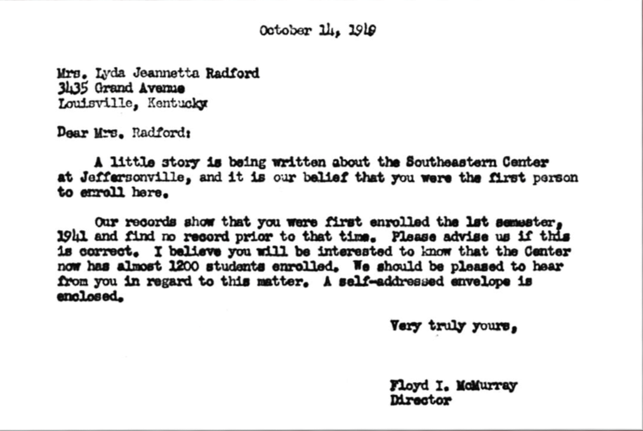 McMurray letter