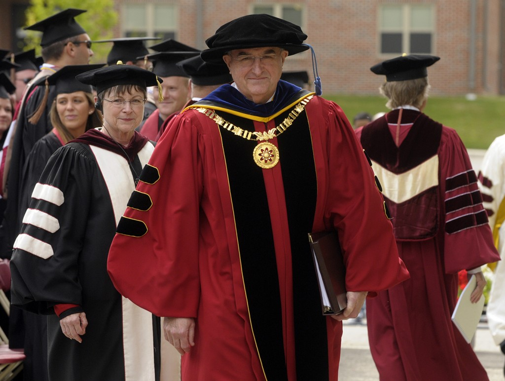 President Michael A. McRobbie at IU Southeast Commencement.