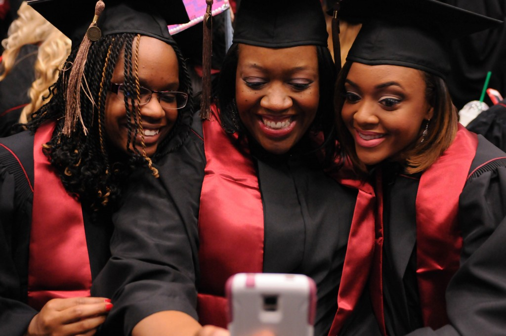 IU Southeast graduates celebrate at Commencement 2015.