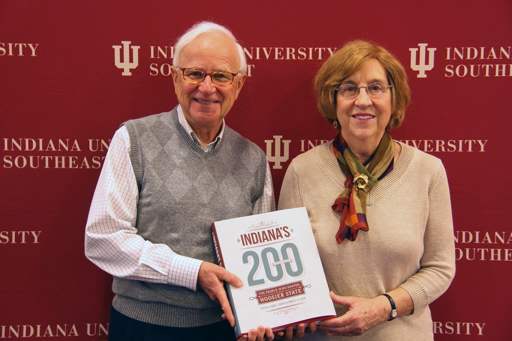 Former IU Southeast professors Jim St. Clair and Linda Gugin