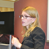 Education faculty Lisa Hoffman leads workshop on adult literacy for World Refugee Day Summit
