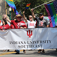 IU Southeast a supportive presence at inaugural Jeffersonville Pride Festival