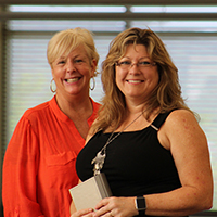 Bernadette Jessie and Lisa Russell are newest FACET inductees from IU Southeast