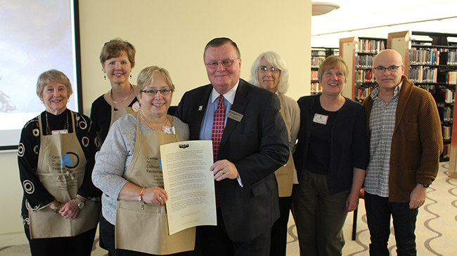 Chancellor Wallace accepts resolution
