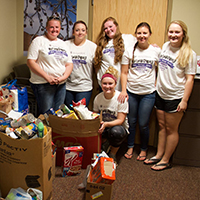 Nursing students honor Karen Richie, collect goods for emergency food pantry