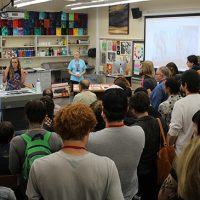 Big crowd for print demo by Darian Stahl