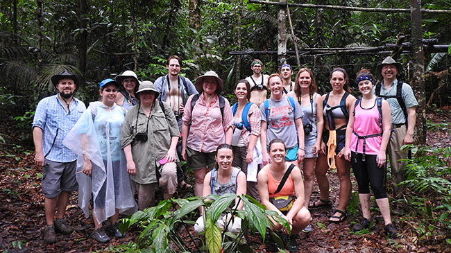 David Taylor and members of the Amazon field biology trip