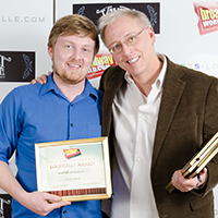 Cody King and Jim Hesselman with their awards