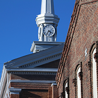 Clocktower of Second Baptist Church