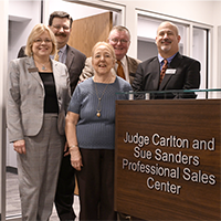 Judge Carlton and Sue Sanders Professional Sales Center dedicated