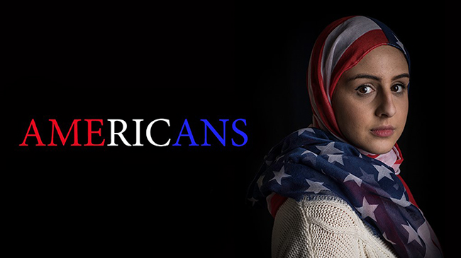 "Poster for ""Americans"" showing American Muslim woman"