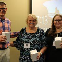 Poster winners: Jordan Ricks, Anita Kraft, kari Faustyn.