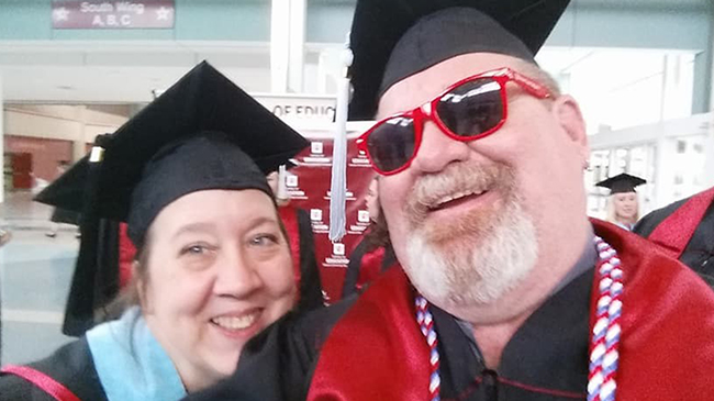 Kimberly Pelle and Brian Cole at Commencement