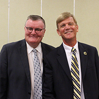 Chancellor Ray Wallace and Associate Dean for Purdue Polytechnic Statewide Andy Schaffler