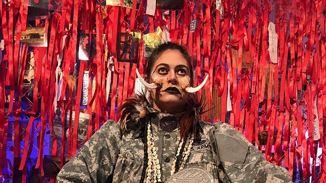 Rosanna Raymond in tusked costume