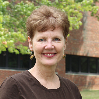 Susan Ridout on campus
