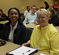 Drs. Gloria Murray and Annette Wyandotte at the Scholarship of Teaching and Learning Conference.