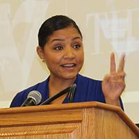 Keynote speaker Angie Fenton, editor of Extol.