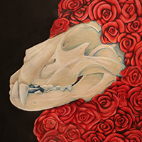 "A detail from ""Rose Love"" by Adara Fox"
