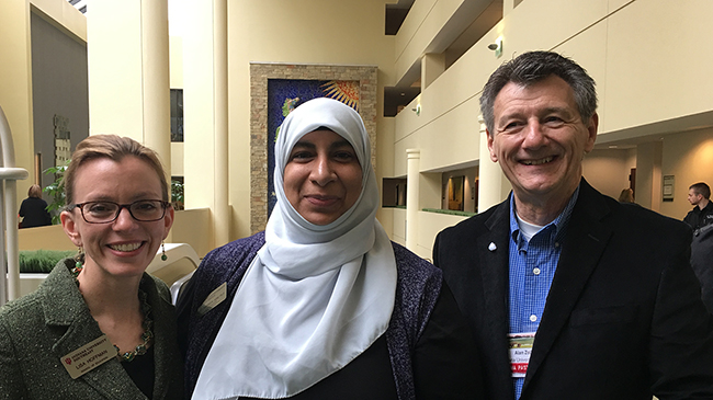 IU Southeast School of Education faculty members Drs. Lisa Hoffman, Sumreen Asim and Alan Zollman were among those presenting STEM related papers at the recent School Science and Mathematics Association (SSMA) conference in Lexington, Ky.