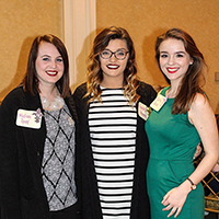 Scholarship winners, from left to right: Madison Reed, Kendra Stevens, Justice Burda