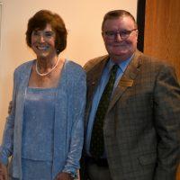 Patty Cress and Chancellor Ray Wallace