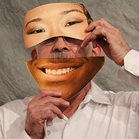 Masked face with diverse ethnicities