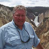 Dr. Glenn Mason at Yellowstone Falls, Wyoming.