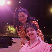IU Southeast theatre students Megan Johnson and Matthew Street.