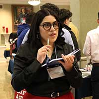 IU Southeast student Ashley Lopez at the Indiana Latino Leadership Conference.