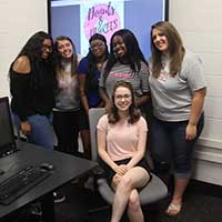 Group photo of Emily Seay and students of the first cohort of mentors in the Indiana Kids project.