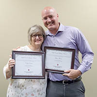 Cathy Denton and Shane Thomas Receive 2019 Staff Council Legacy Award