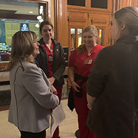 Nursing students visited Indiana Legislature for Health Policy and Advocacy Day