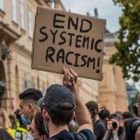 Anti-racism demonstration.