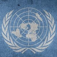 United Nations logo.