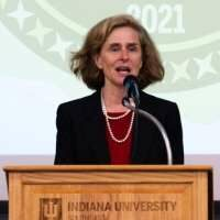 President Dr. Whitten speaks at Founders Day Luncheon